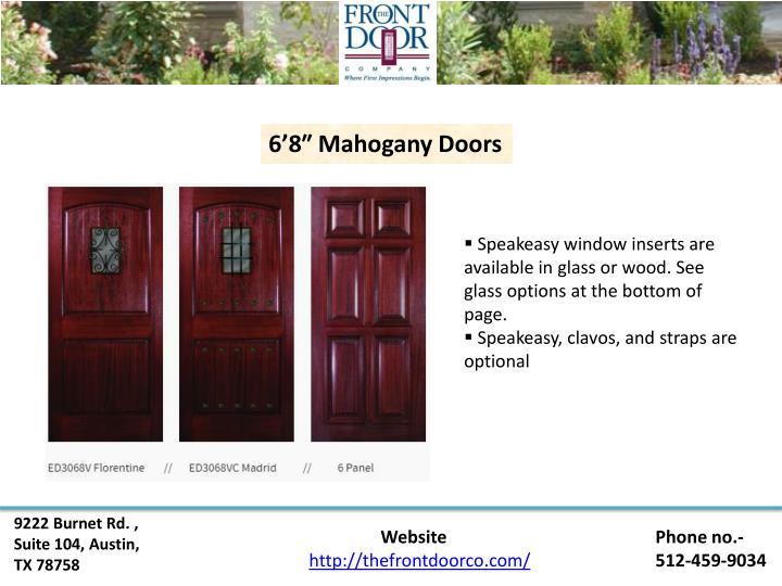 6'8″ Mahogany Doors