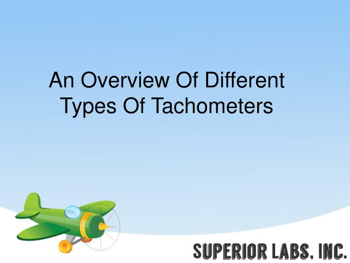 An overview of different types of tachometers