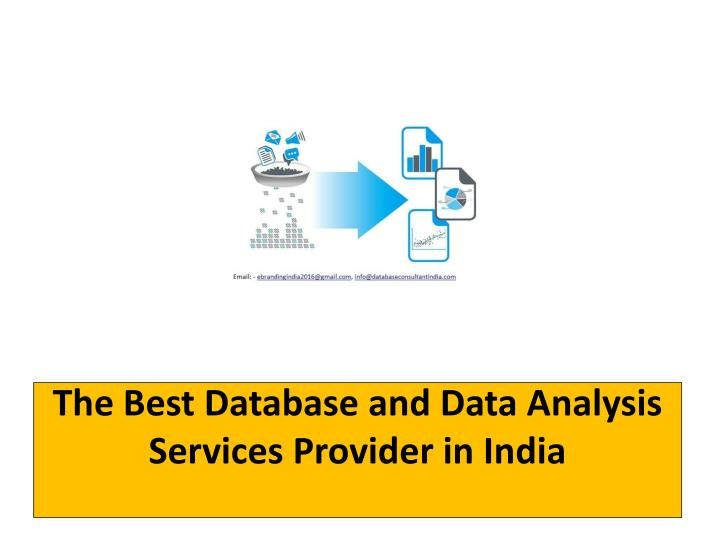 the best database and data analysis services provider in india n.