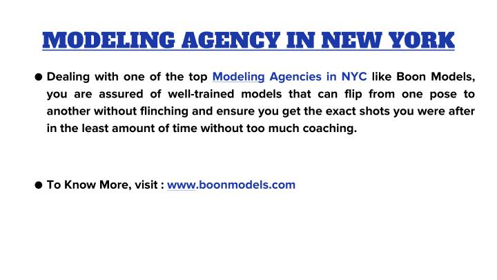 Modeling agency in new york