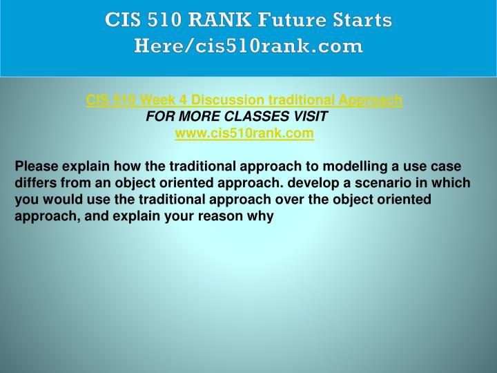 CIS 510 RANK Future Starts Here/cis510rank.com