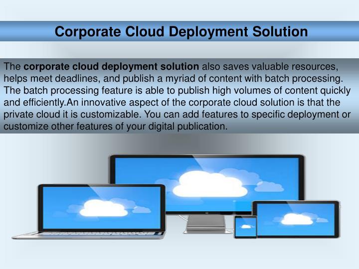 Corporate Cloud Deployment Solution