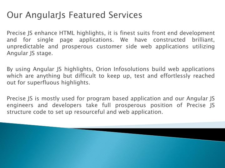 Our AngularJs Featured Services