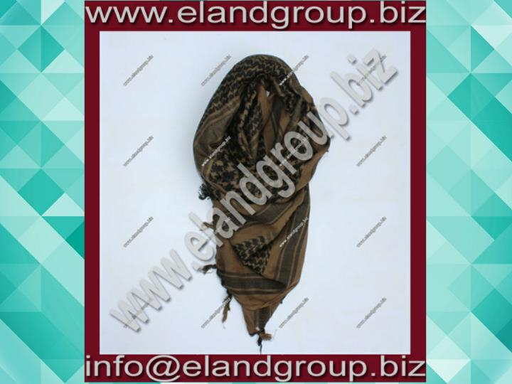 Shemagh arab scarf chequered mudbrown