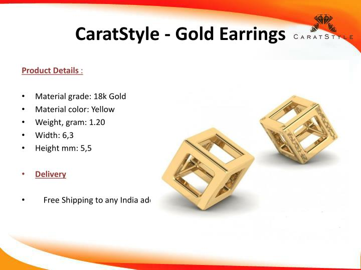 CaratStyle - Gold Earrings