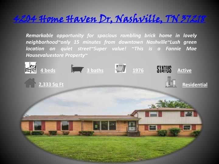 4204 Home Haven Dr, Nashville, TN