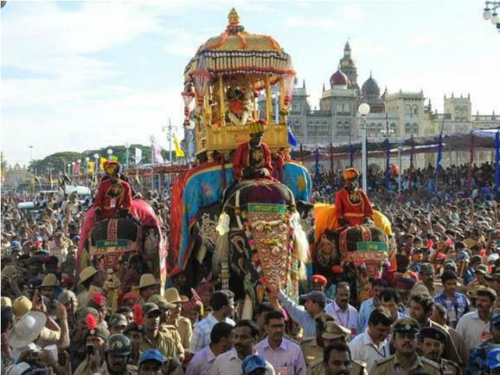 Dasara celebrations at party halls in mysore
