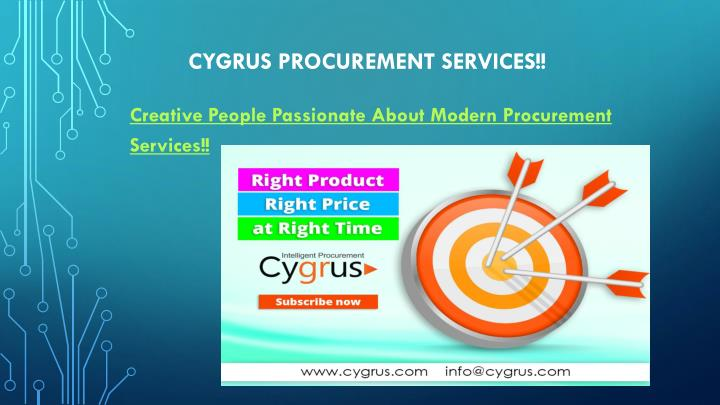 Cygrus procurement services