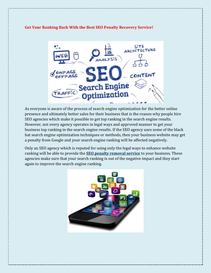 Get Your Ranking Back With the Best SEO Penalty Recovery Service!