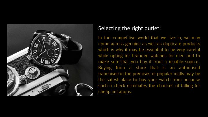 Selecting the right outlet: