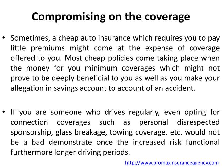 Compromising on the coverage