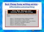 best cheap essay writing service affordablecustomwriting