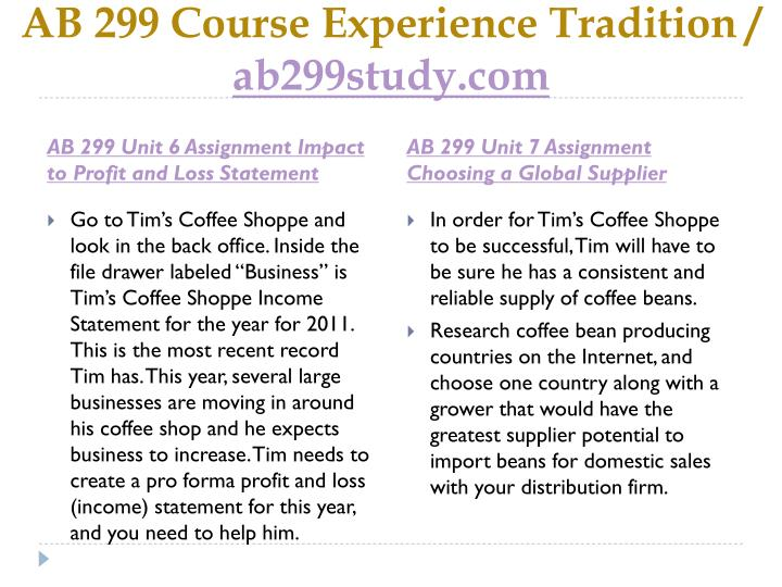 ab299 tims coffee shoppe Provide a short explanation of how tim's coffee shoppe can reach each of these.