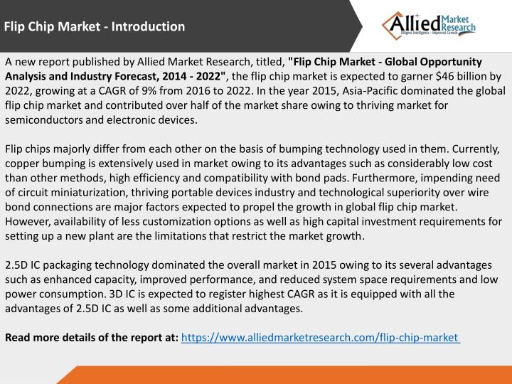 Flip Chip Market - Introduction
