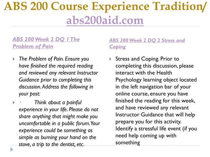 ABS 200 Course