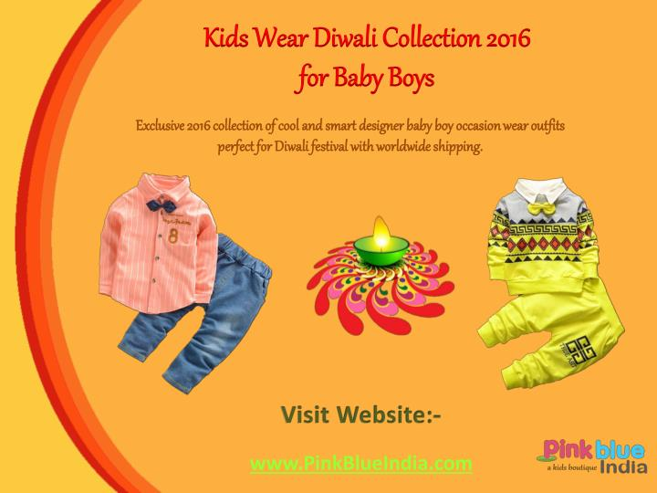 Kids Wear Diwali Collection 2016 for Baby Boys