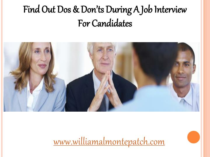 Find Out Dos & Don'ts During A Job Interview