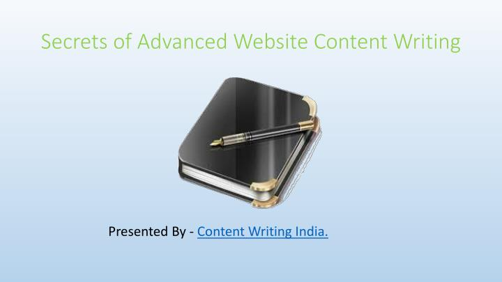 secrets of advanced website content writing