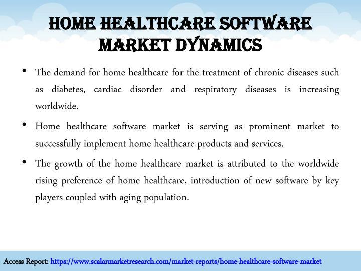 Home healthcare software market dynamics
