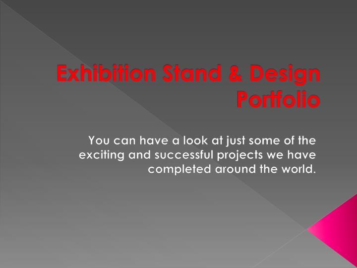 Exhibition stand design portfolio