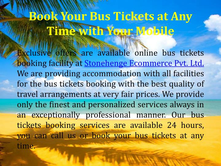 Book Your Bus Tickets at Any