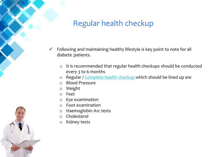 Regular health checkup