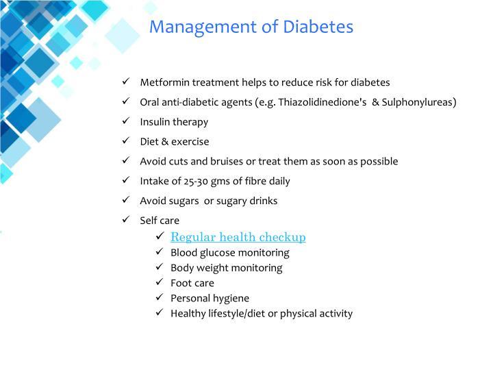 Management of Diabetes