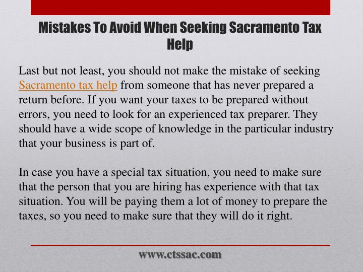 Last but not least, you should not make the mistake of seeking