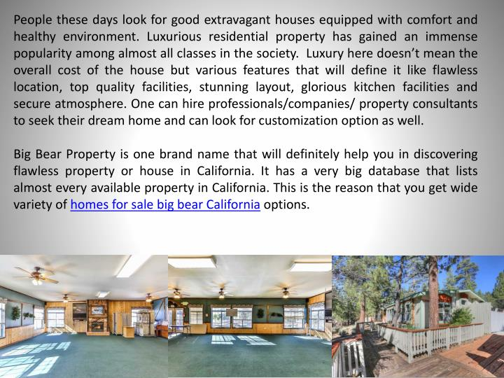 People these days look for good extravagant houses equipped with comfort and healthy environment. Lu...