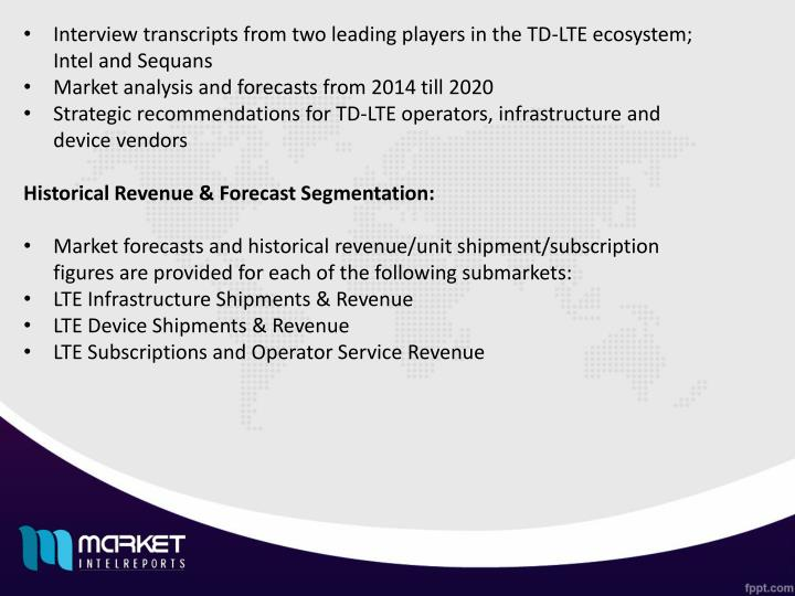 Interview transcripts from two leading players in the TD-LTE ecosystem; Intel and