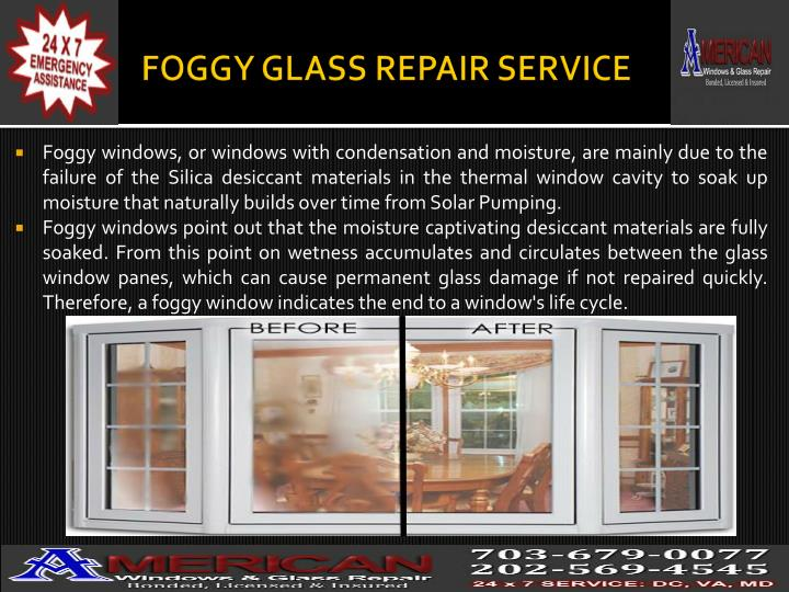FOGGY GLASS REPAIR SERVICE