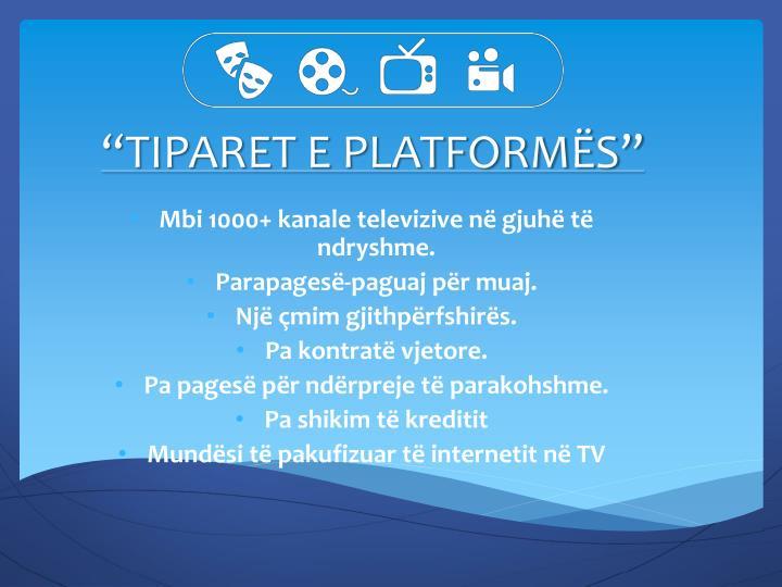 Tiparet e platform s