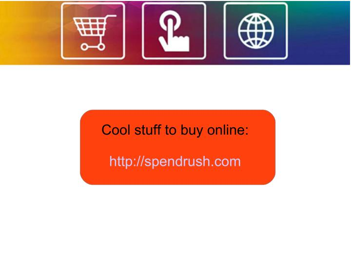 Cool stuff to buy online: