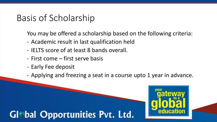 Basis of Scholarship