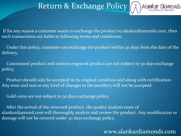 Return & Exchange Policy