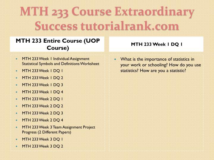 Mth 233 course extraordinary success tutorialrank com1