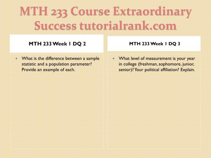 Mth 233 course extraordinary success tutorialrank com2