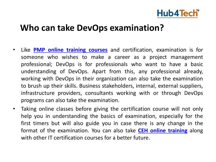 Who can take DevOps examination?
