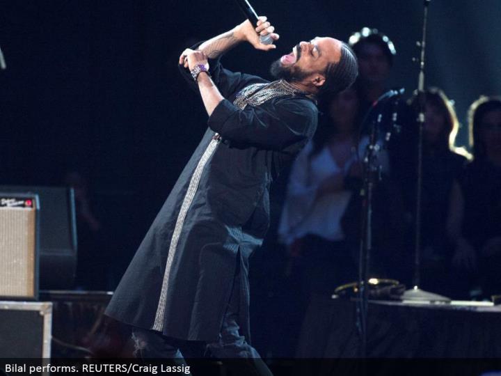 Bilal performs. REUTERS/Craig Lassig