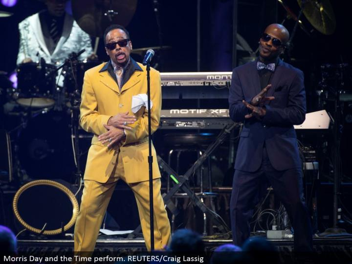 Morris Day and the Time perform. REUTERS/Craig Lassig