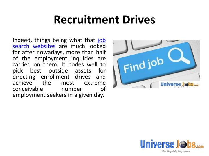 Recruitment drives