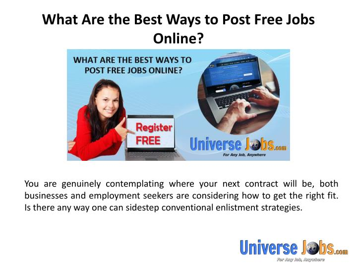 What are the best ways to post free jobs online