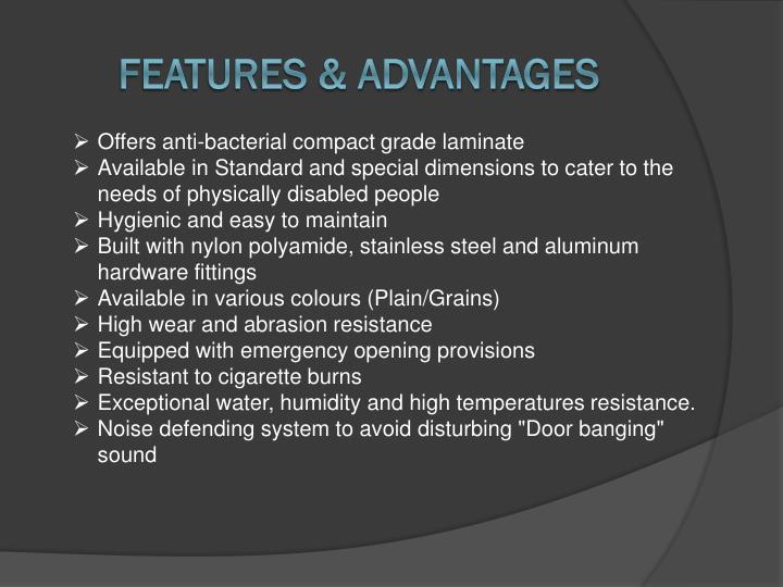 Features advantages