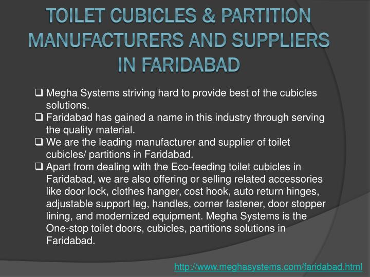 Toilet Cubicles & Partition Manufacturers and Suppliers in faridabad
