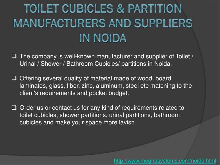 Toilet Cubicles & Partition Manufacturers and Suppliers in Noida