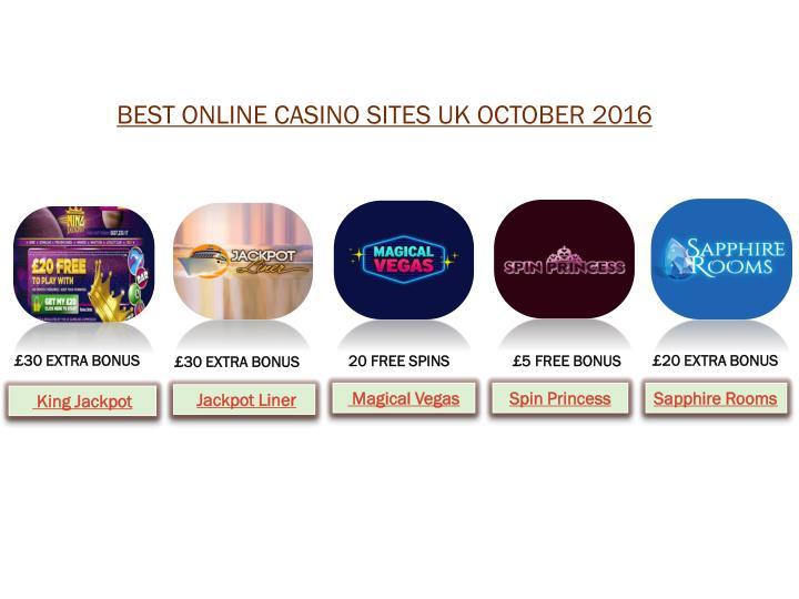 BEST ONLINE CASINO SITES UK