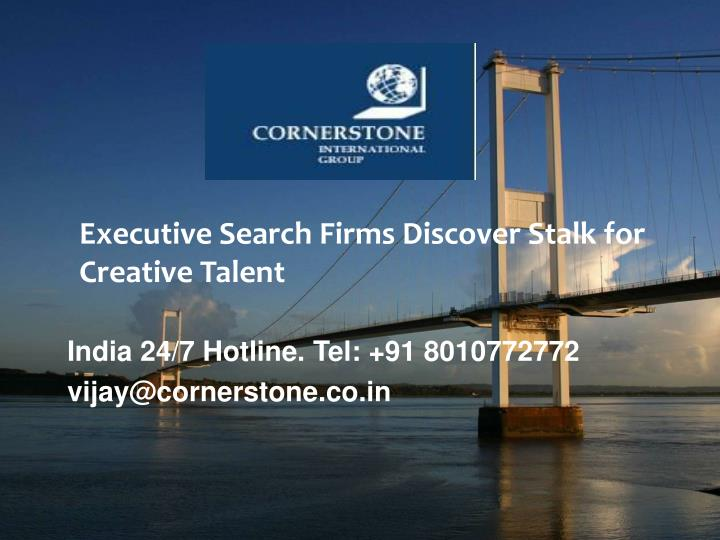 Executive Search Firms Discover Stalk for