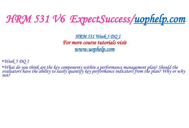 HRM 531 V6  ExpectSuccess