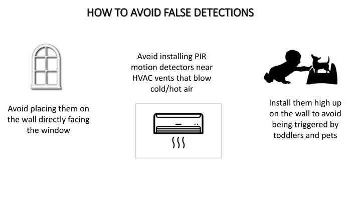 HOW TO avoid false detections