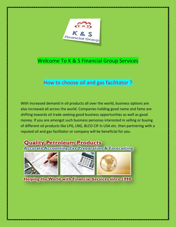 Welcome To K & S Financial Group Services